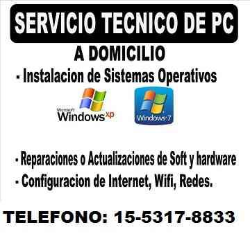 FLORES-SERVICIOS INFORMATICOS-REPARACION- PC-NOTEBOOKS- A DOMICILIO EN FLORES Y FLORESTA