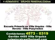 Colegios privados primarios villa devoto - 4573-0319 - colegio raices