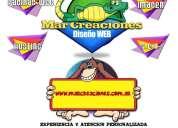Diseño de paginas web -marcreaciones