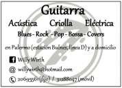 Guitarra clases en palermo y a domicilio