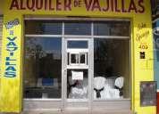 alquiler de vajilla, mobiliario y manteleria para eventos