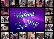 Violetas eventos - spa para nenas  - fiestas tematicas a domicilio