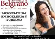 Licenciatura en hotelería y turismo