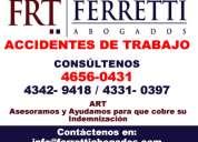 Accidentes de trabajo art moron ferretti abogados 4656-0431