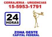 Cerrajeria 24hs villa tesei 15-5953-1791 zona oeste