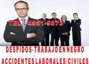 Abogados laborales, despidos, trabajo en negro, accidentes
