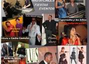Shows musicales para fiestas bandas covers cantantes tributos animacion karaoke