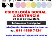 Escuela virtual de psicología social chubut - fundacion tehuelche