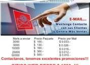 E-mail marketing desde $100 sitios web desde $ 1200 insumos de computación e impresión