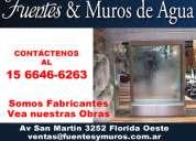 Fabricantes de fuentes y muros de agua pilar 15-6646-6263