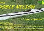Kayak doble nelson - remos- palas