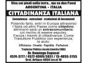 Ciudadnia italiana- traductor publico