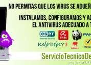 Eliminacion de virus instalacion antivirus | serviciotecnicodepc