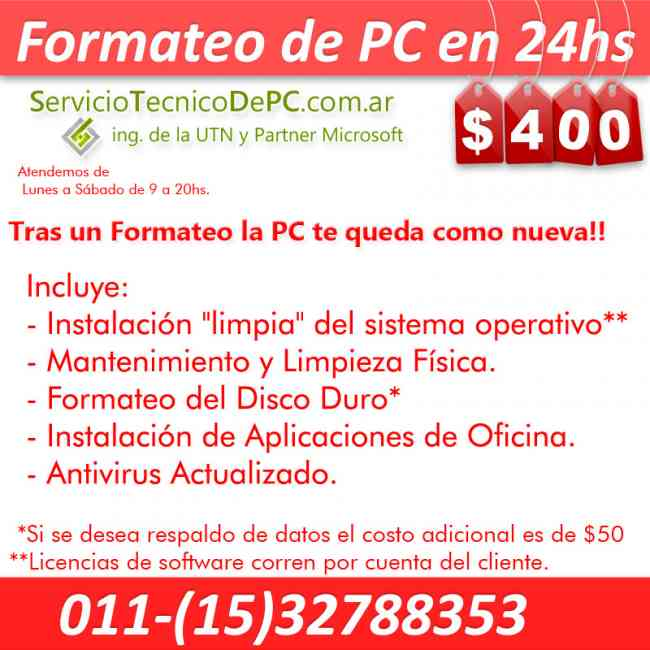 Formateo de PC Windows Reinstalacion Sistema | ServicioTecnicoDePC