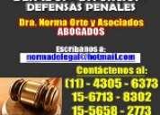 Abogada,sucesiones,divorcios,despidos,desalojos,penalista,dra norma.4305-6373.capital federal