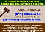 Diligencias judiciales y extrajudiciales  santiago del estero 011 (2053-3746)