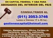 Diligencias judiciales y extrajudiciales  tucuman 11 2053 3746