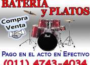 Compra venta baterias platillos platos 4743-4034