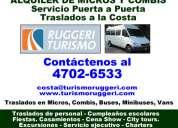 Traslados alquiler de vans, minibuses zona caballito llame [4702-6533]