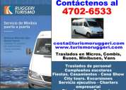 Traslados alquiler de buses para villa devoto asesorese *4702 6533*