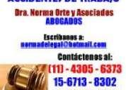 Abogados, divorcios,sucesiones,despidos,penalista,desalojos,4305-6373dra.orte y asoc.