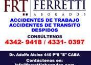 Despidos laborales barracas tfno 4342-9418 despido improcedente